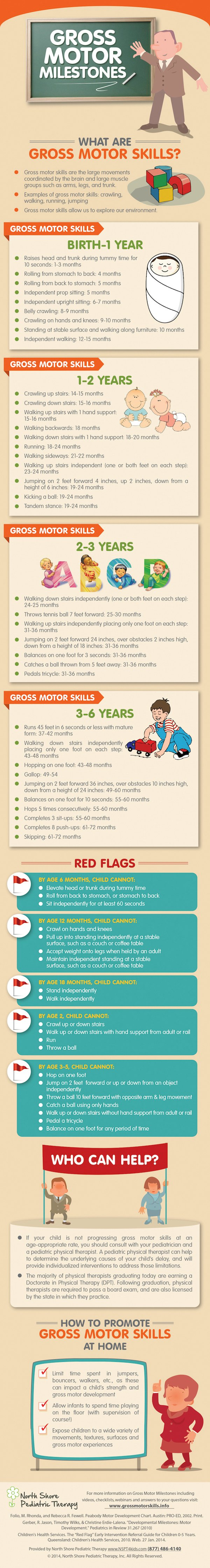 Gross Motor Milestones from